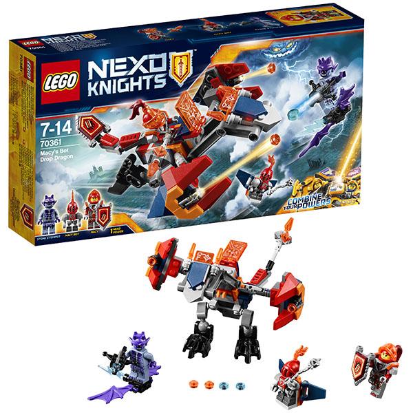 Lego Nexo Knights 70361 Конструктор Лего Нексо Дракон Мэйси, арт:148591 - LEGO, Конструкторы для мальчиков и девочек