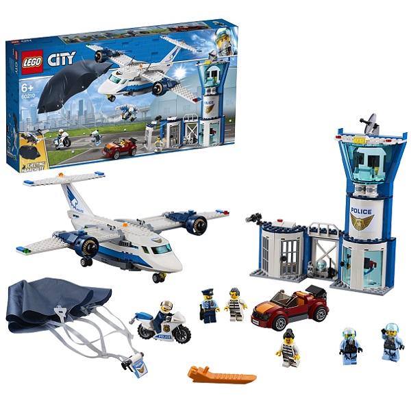 Купить LEGO City 60210 Конструктор ЛЕГО Город Воздушная полиция: Авиабаза, Конструкторы LEGO