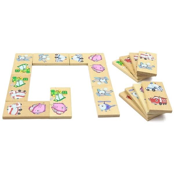"""Деревянные игрушки Игрушки из дерева D393 Домино """"Транспорт"""" фото"""