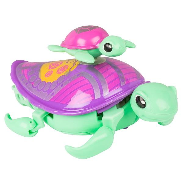 Купить Little Live Pets 28417 Интерактивная черепашка с малышом салатовая, Интерактивная игрушка Little Live Pets