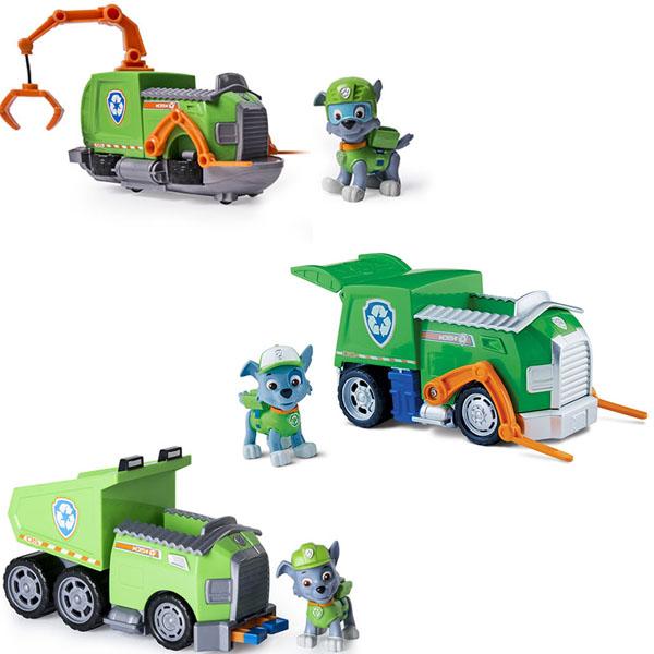 Купить Paw Patrol 16601-Roc Щенячий патруль Машинка спасателя и щенок (Рокки), Машинка Paw Patrol
