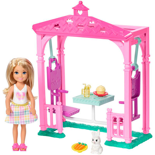 Купить Mattel Barbie FDB34 Барби Челси и набор мебели , Кукла Mattel Barbie