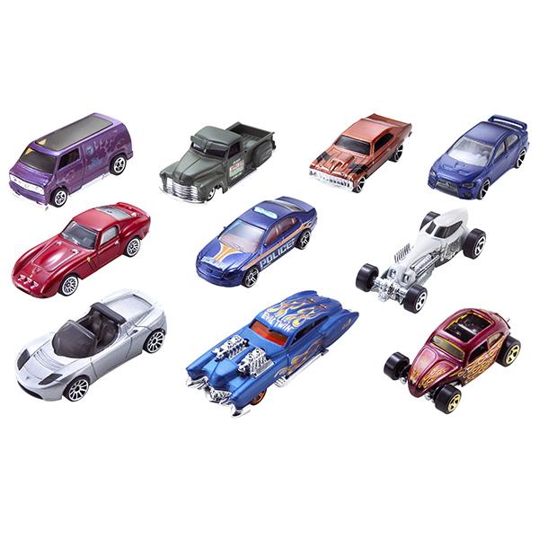 Купить Mattel Hot Wheels 54886 Хот Вилс Подарочный набор из 10 машинок (в ассортименте), Машинка Mattel Hot Wheels
