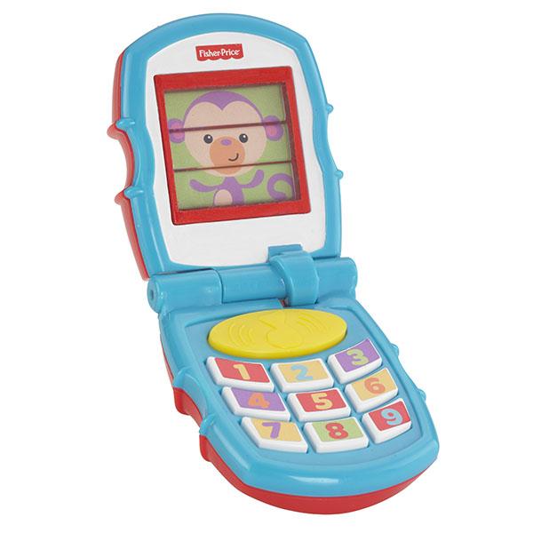 Купить Mattel Fisher-Price Y6979 Фишер Прайс Раскладной телефон, Развивающие игрушки для малышей Mattel Fisher-Price