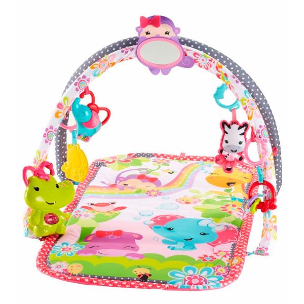 Купить Mattel Fisher-Price DFP64 Фишер Прайс Развивающий коврик для девочек (розовый), Игрушка для малышей Mattel Fisher-Price