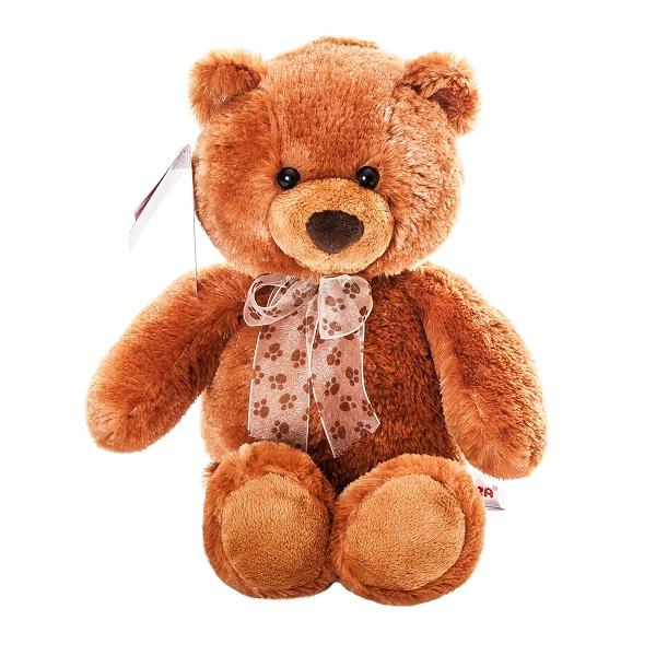 Купить Aurora 615-59 Аврора Медведь коричневый cидячий, 34 см, Мягкая игрушка Aurora