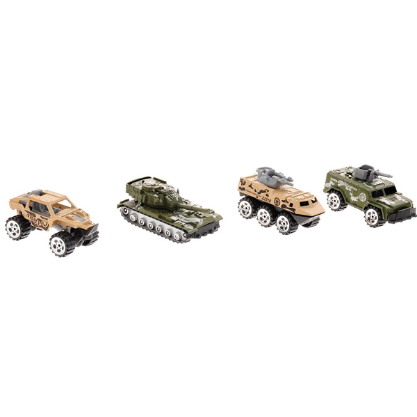 Купить Boley M12239 Игровой набор Военные 4 штуки, Набор машинок Boley