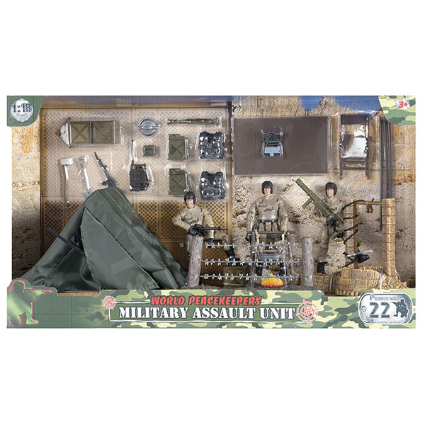 """Игровые наборы и фигурки для детей World Peacekeepers MC77083 Игровой набор """"Лагерь"""" 2 фигурки, 1:18 фото"""
