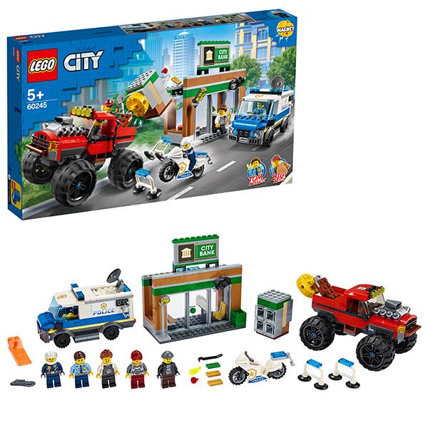 Купить LEGO City 60245 Конструктор ЛЕГО Город Ограбление полицейского монстр-трака, Конструкторы LEGO