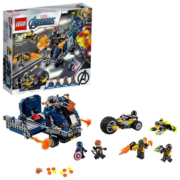 Купить LEGO Super Heroes 76143 Конструктор ЛЕГО Супер Герои Мстители: Нападение на грузовик, Конструкторы LEGO