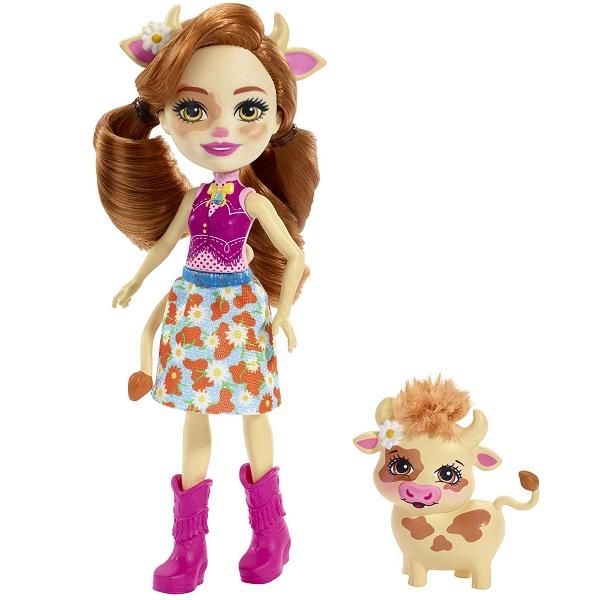 Mattel Enchantimals FXM77 Кукла с питомцем Коровка Кейли - Куклы и аксессуары
