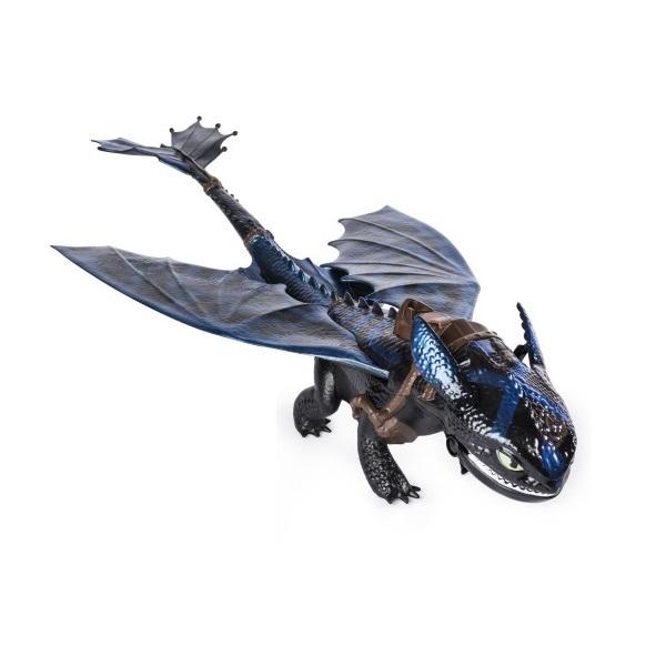 Купить Dragons 66555 Дрэгонс Большой дракон Беззубик, дышит огнем, Фигурка Dragons