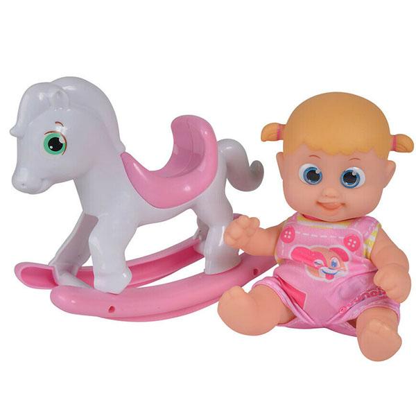 Куклы и пупсы Bouncin' Babies Bouncin' Babies 803003 Кукла Бони с лошадкой-качалкой, 16 см по цене 959