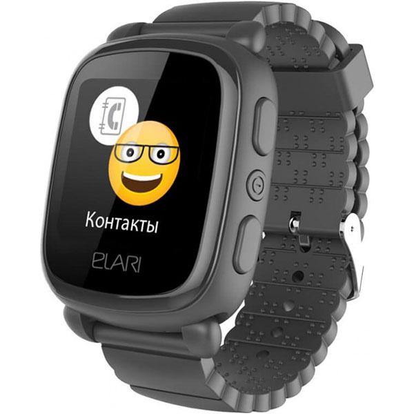 Гаджеты и безопасность Elari Elari ELKP2BLK Часы KidPhone 2 черные по цене 2 489