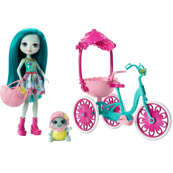 """Mattel Enchantimals FCC65 Игровой набор """"Прогулка на велосипеде"""", Игровые наборы Mattel Enchantimals  - купить со скидкой"""