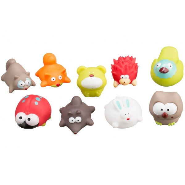 """Детские игрушки для ванной ROXY-KIDS RRT-823-2 Набор игрушек для ванной """"Лесные жители"""", 9 шт фото"""