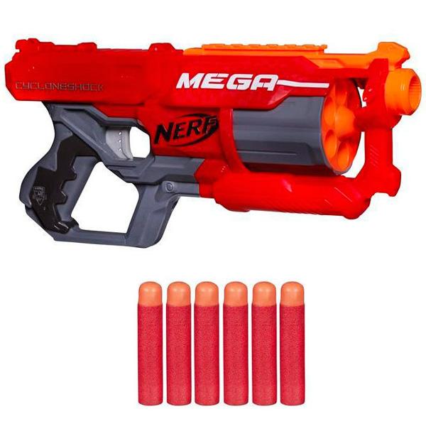 Купить Hasbro Nerf A9353 Нерф Бластер Мега Циклон-шок, Игрушечное оружие Hasbro Nerf