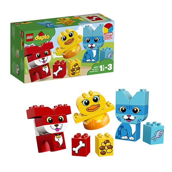 Купить LEGO DUPLO 10858 Конструктор ЛЕГО ДУПЛО Мои первые домашние животные, Конструкторы LEGO