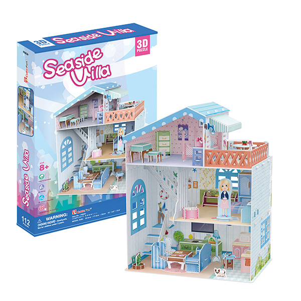 Cubic Fun P683h Кубик фан Прибрежная Вилла, арт:128613 - 3D пазлы, Настольные игры