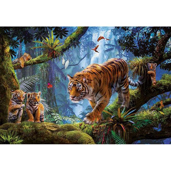 Educa 17662 Пазл 1000 деталей Тигры на дереве - Настольные игры