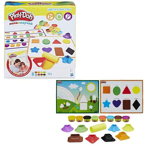 """Hasbro Play-Doh B3404 Игровой набор """"Цвета и формы"""", Пластилин Hasbro Play-Doh  - купить со скидкой"""