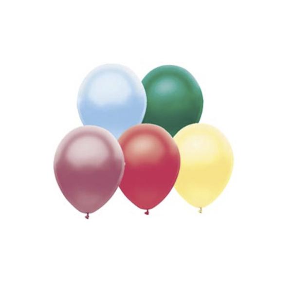 Веселая Затея 1111-0106 Набор шаров Металлик 25 см 10 шт