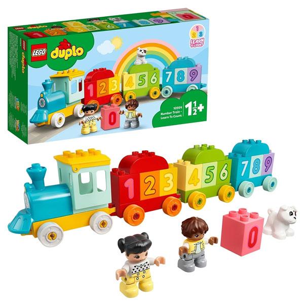 Купить LEGO DUPLO 10954 Конструктор ЛЕГО ДУПЛО Поезд с цифрами - учимся считать, Конструктор LEGO