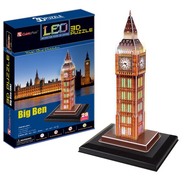 3D пазлы Cubic Fun L501h Кубик фан Биг бен с иллюминацией (Великобритания)
