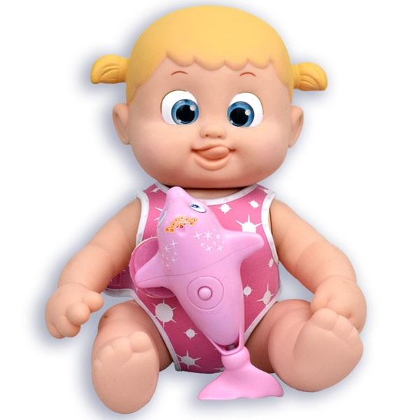 Bouncin' Babies 801011g Кукла Бони плавающая с дельфином, 35 см - Куклы и аксессуары