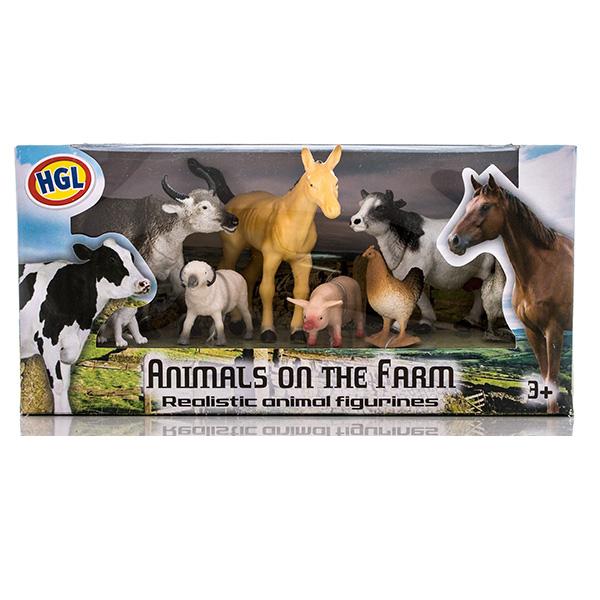 Купить HGL SV10530 Игровой набор фермерских животных 5 - 15 см (в ассортименте), Игровой набор Megasaurs (HGL)