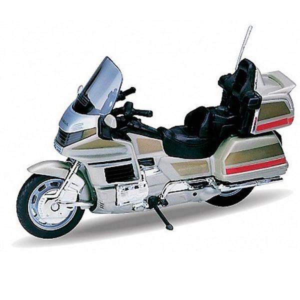Купить Welly 12148P Велли Модель мотоцикла 1:18 HONDA Gold Wing, Мотоцикл Welly