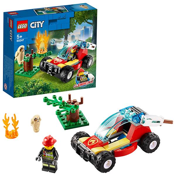 Купить LEGO City 60247 Конструктор ЛЕГО Город Лесные пожарные, Конструкторы LEGO
