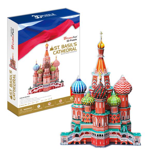 3D пазлы Cubic Fun MC093h Кубик фан Собор Василия Блаженного (Россия) фото