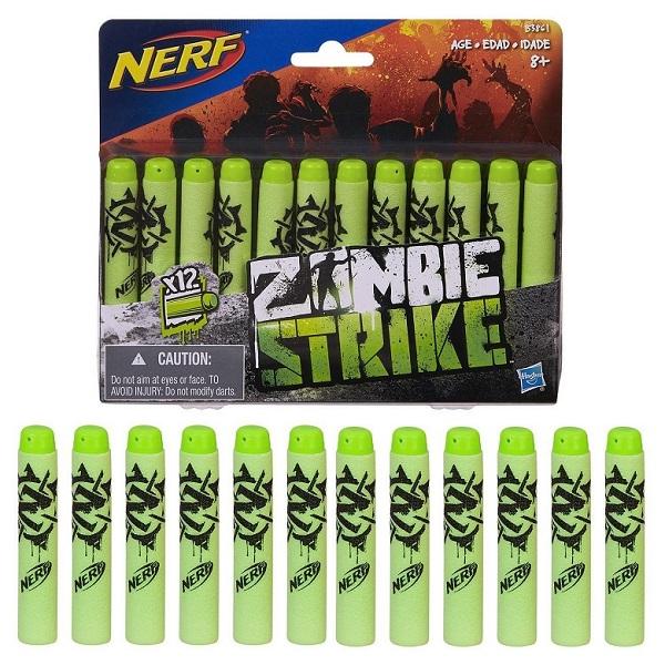 Купить Hasbro Nerf B3861 Нерф Зомби Стрелы 12 штук, Игровые наборы Hasbro Nerf