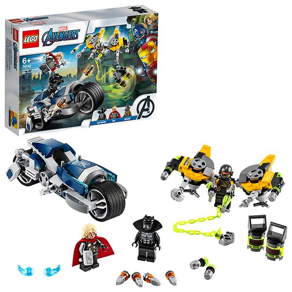 Купить LEGO Super Heroes 76142 Конструктор ЛЕГО Супер Герои Мстители Атака на спортбайке, Конструкторы LEGO