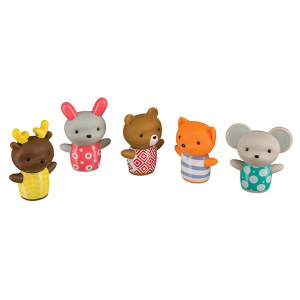 Купить Happy Baby 32024 Набор игрушек на пальцы LITTLE FRIENDS , Развивающие игрушки для малышей Happy Baby