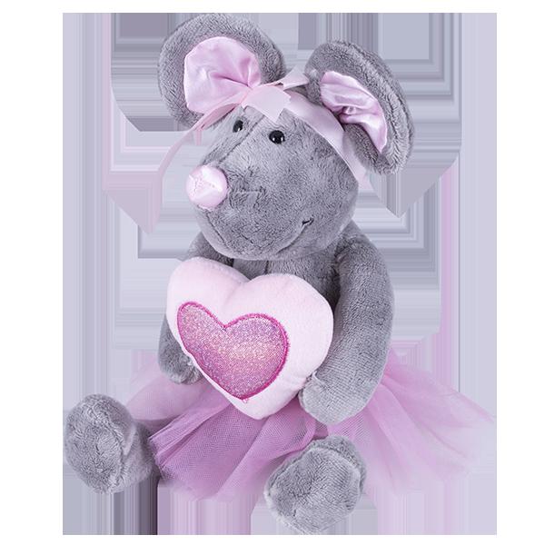 Мягкие игрушки SOFTOY — SOFTOY S881/15 Мягкая игрушка Мышка, 26см