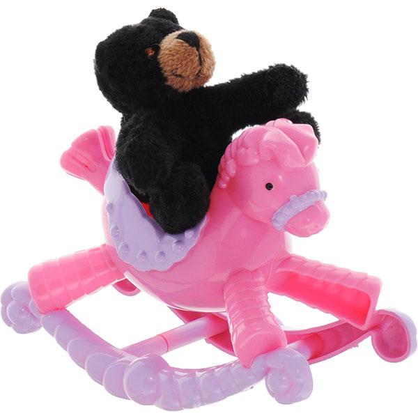 Купить Beanzees B32031 Бинзис Игровой набор плюшевый Медвежонок на пони-качалке , Игровой набор Beanzeez