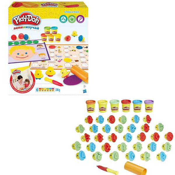Купить Hasbro Play-Doh C3581 Игровой набор Буквы и языки , Пластилин Hasbro Play-Doh