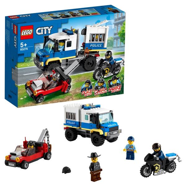 Купить LEGO City 60276 Конструктор ЛЕГО Город Транспорт для перевозки преступников, Конструкторы LEGO