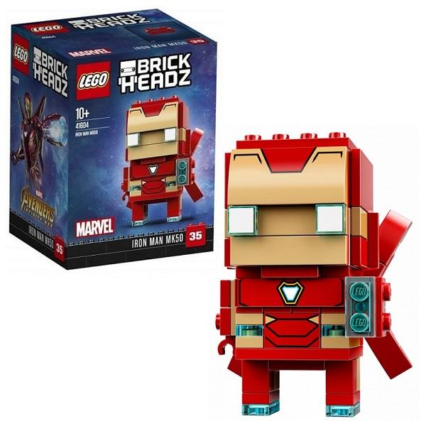 Lego BrickHeadz 41604 Конструктор Лего БрикХедз Железный человек, арт:153849 - BrickHeadz, Конструкторы LEGO