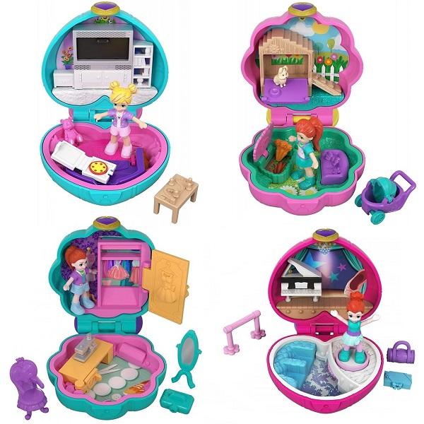 Купить Mattel Polly Pocket FRY29 Компактные игровые наборы (в ассортименте), Игровые наборы и фигурки для детей Mattel Polly Pocket