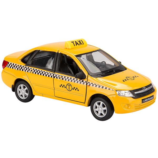 Купить Welly 43657TI модель машины 1:34-39 LADA Granta ТАКСИ, Машинка Welly