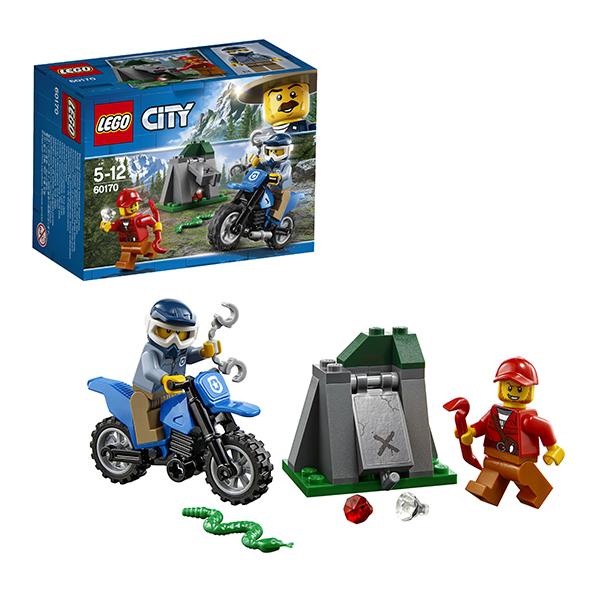 Купить Lego City 60170 Лего Город Погоня на внедорожниках, Конструкторы LEGO