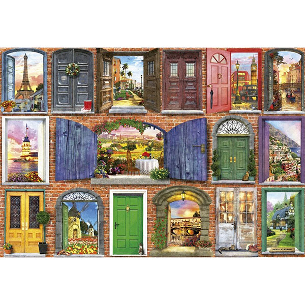 Купить Educa 17118P Пазл 1500 деталей Двери Европы , Пазлы Educa