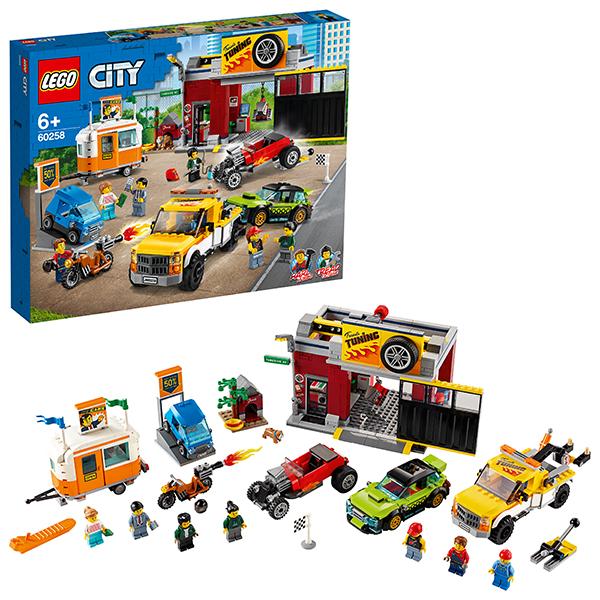 Купить LEGO City 60258 Конструктор ЛЕГО Город Turbo Wheels Тюнинг-мастерская, Конструкторы LEGO