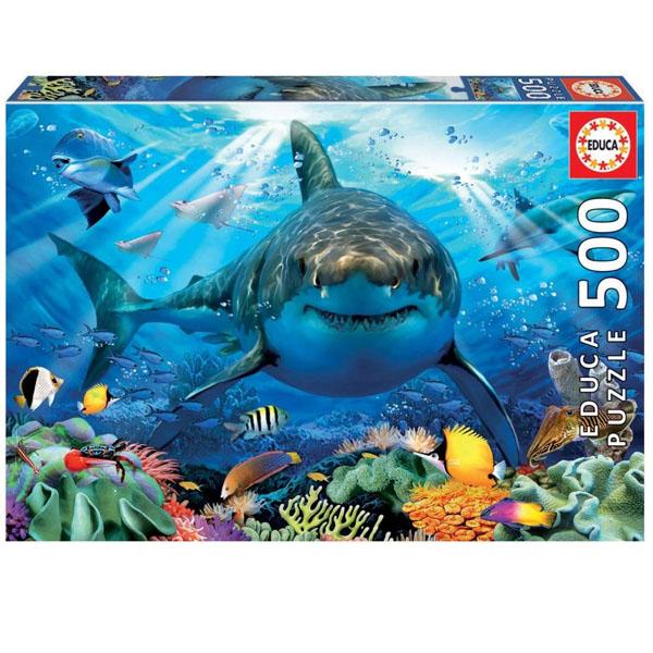 Купить Educa 18478 Пазл 500 деталей Большая белая акула