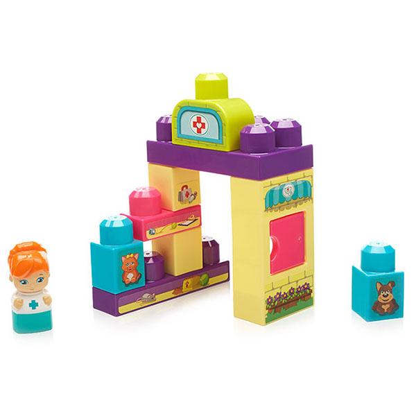 Mattel Mega Bloks DYC55 Мега Блокс Игровой набор Ветеринарный центр - Игрушки для малышей