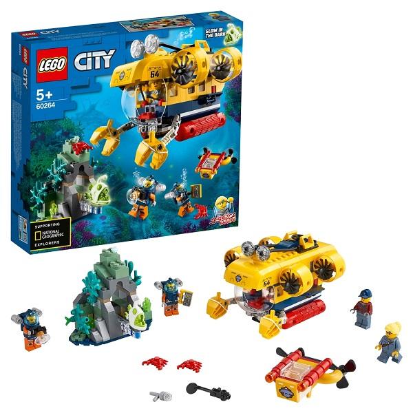 Конструкторы LEGO LEGO City 60264 Конструктор ЛЕГО Город Океан: исследовательская подводная лодка по цене 2 189