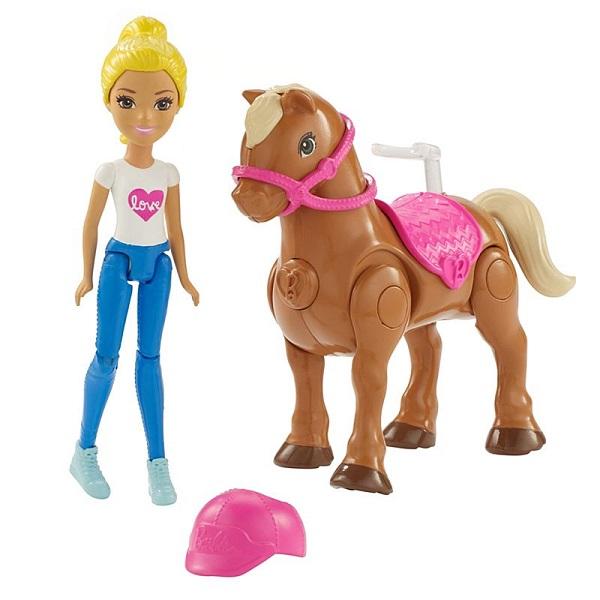 Купить Mattel Barbie FHV63 Барби В движении Пони и кукла, Куклы и пупсы Mattel Barbie